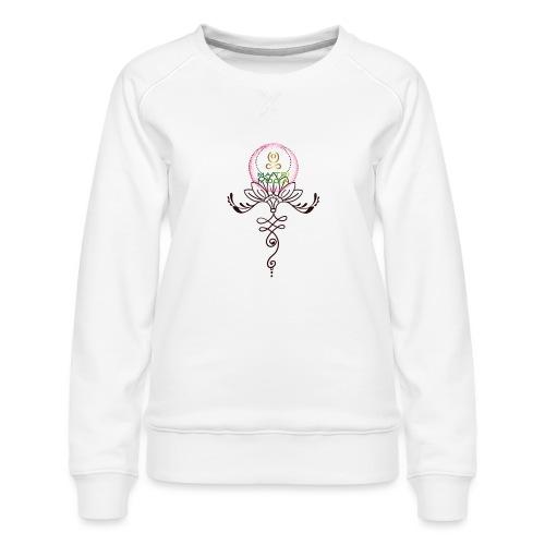 Lotus Unalome MaitriYoga - Sweat ras-du-cou Premium Femme