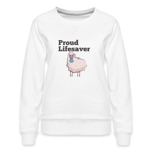 Schlafschafe retten Leben mit Mundschutz - Frauen Premium Pullover