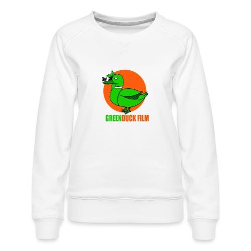 Greenduck Film Orange Sun Logo - Dame premium sweatshirt