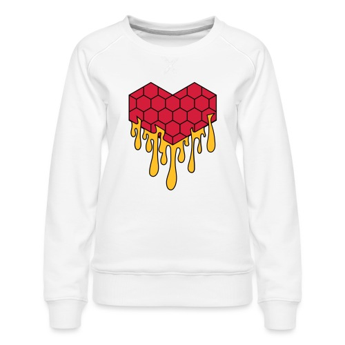 Honey heart cuore miele radeo - Felpa premium da donna