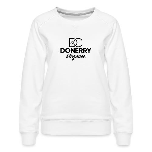 Donerry Elegance Black Logo on White - Women's Premium Sweatshirt