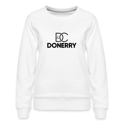 DONERRY Black Logo on White - Women's Premium Sweatshirt