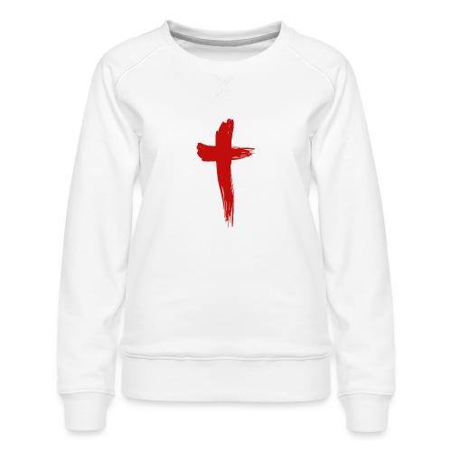 Kreuz rot - Frauen Premium Pullover