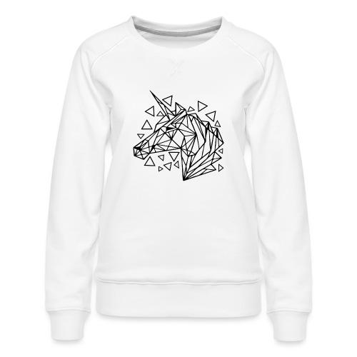 unicornio minimalista - Sudadera premium para mujer