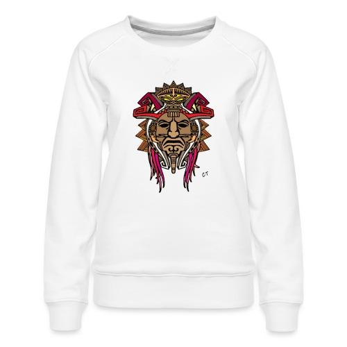 maschera tribale - Felpa premium da donna