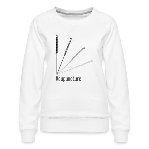 Acupuncture Eventail (logo noir) - Sweat ras-du-cou Premium Femme