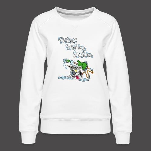Wicked Washing Machine Cartoon and Logo - Vrouwen premium sweater