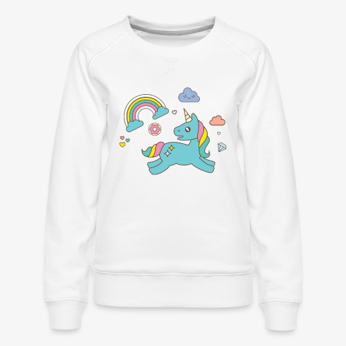 colored unicorn - Women's Premium Sweatshirt