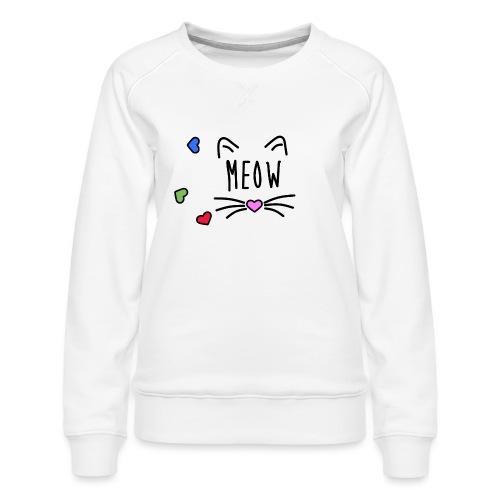 Meow - Sudadera premium para mujer
