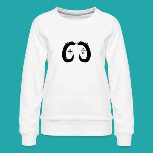 Crowd Control Controller Logo Black Large - Women's Premium Sweatshirt