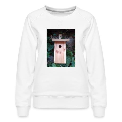 Der Nistkasten - Luxus für den Garten-Vogel - Frauen Premium Pullover