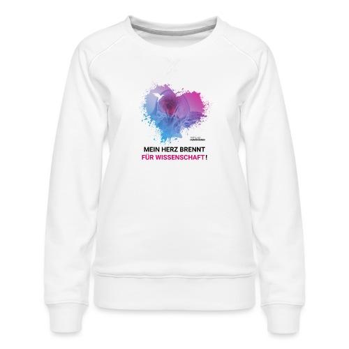 Mein Herz brennt für Wissenschaft! - Frauen Premium Pullover