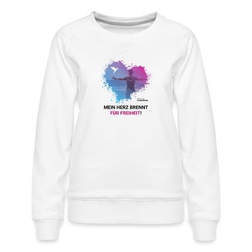 Mein Herz brennt für Freiheit! - Frauen Premium Pullover
