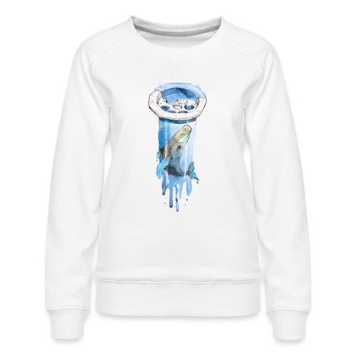 Wal im Abfluss (Whale in the Drain) - Frauen Premium Pullover