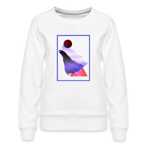 Måne Ulv - Laurids B Design - Dame premium sweatshirt