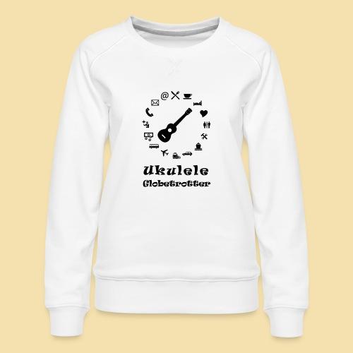XL Menshirt: Globetrotter (Motiv: schwarz) - Frauen Premium Pullover