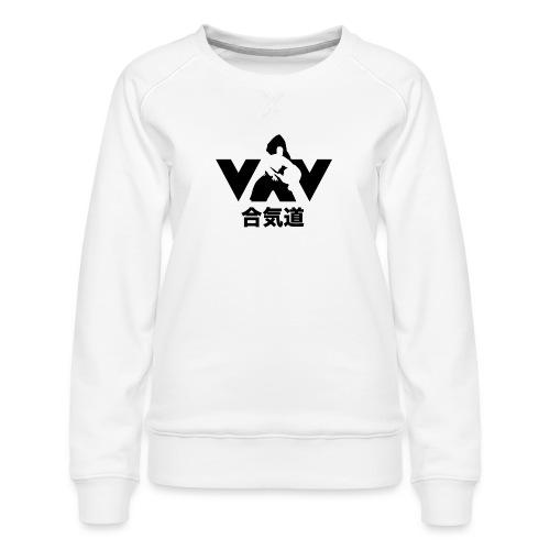 aikido zwart - Vrouwen premium sweater