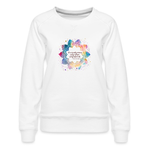 Citation de Nelson Mandela - Sweat ras-du-cou Premium Femme