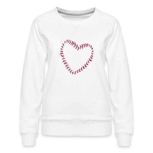 2581172 1029128891 Baseball Heart Of Seams - Women's Premium Sweatshirt