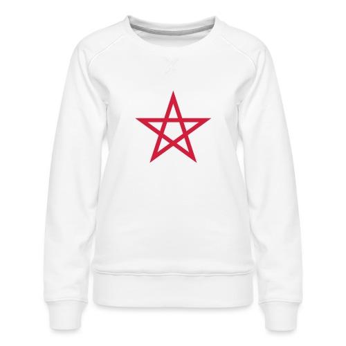 Pentagramme Wicca - Sweat ras-du-cou Premium Femme