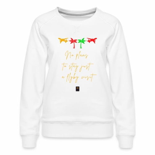 Colourful Holiday travel t shirts flight clothes - Women's Premium Sweatshirt