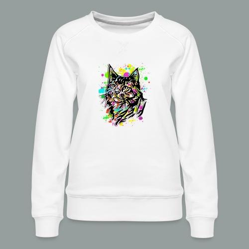 Bunte Katze - Frauen Premium Pullover