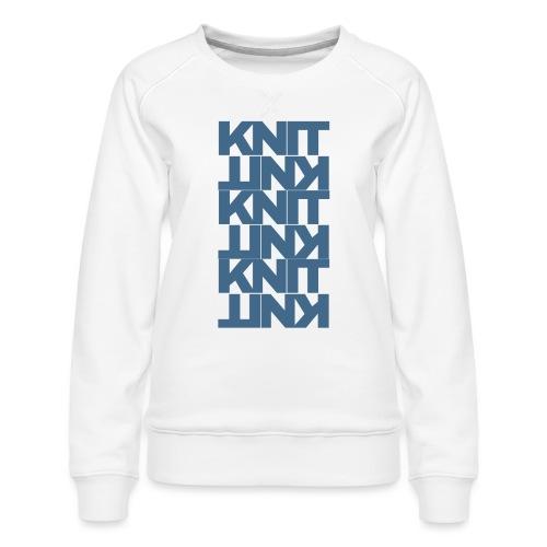 Garter Stitch, dark - Women's Premium Sweatshirt