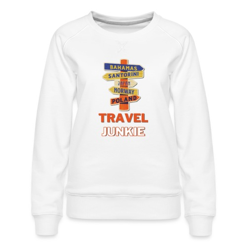 traveljunkie - i like to travel - Frauen Premium Pullover
