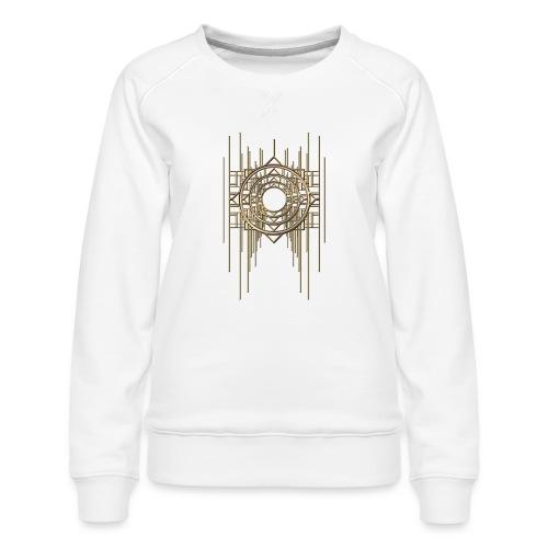 Abstract Geometry Gold Metal Art Deco Vintage - Women's Premium Sweatshirt