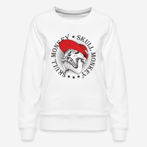 skull monkey vintage - Frauen Premium Pullover