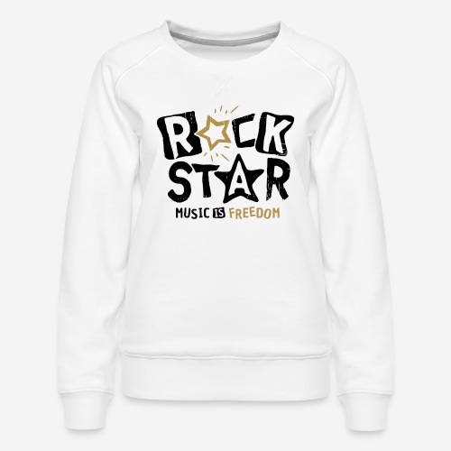 rock star music freedom - Frauen Premium Pullover