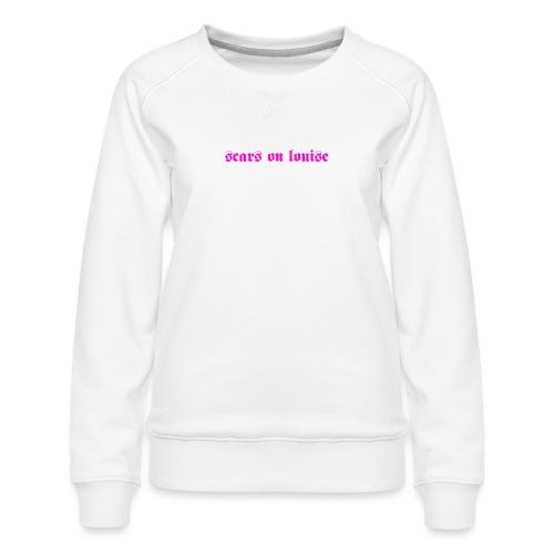 Logo Black Letter Pink - Sweat ras-du-cou Premium Femme