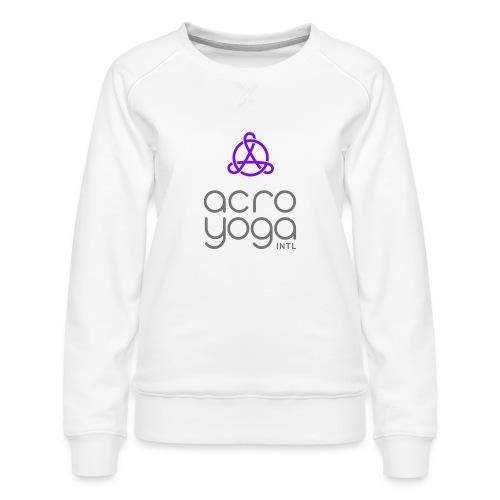 AcroYoga International Logo - Women's Premium Sweatshirt