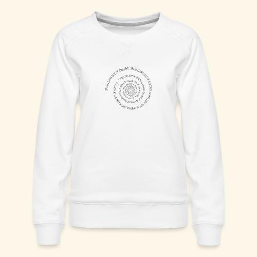 SPIRAL TEXT LOGO BLACK IMPRINT - Women's Premium Sweatshirt