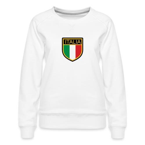 SCUDETTO ITALIA CALCIO - Felpa premium da donna