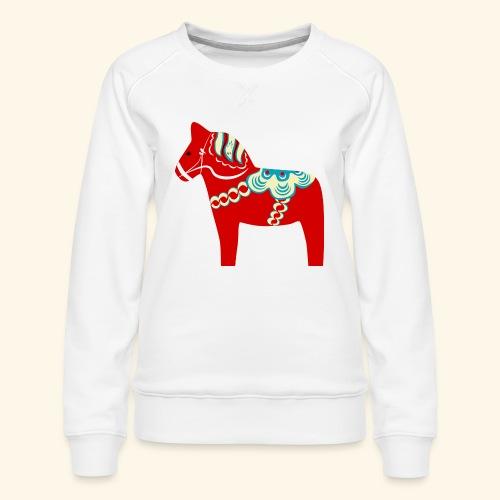 Röd dalahäst - Premiumtröja dam
