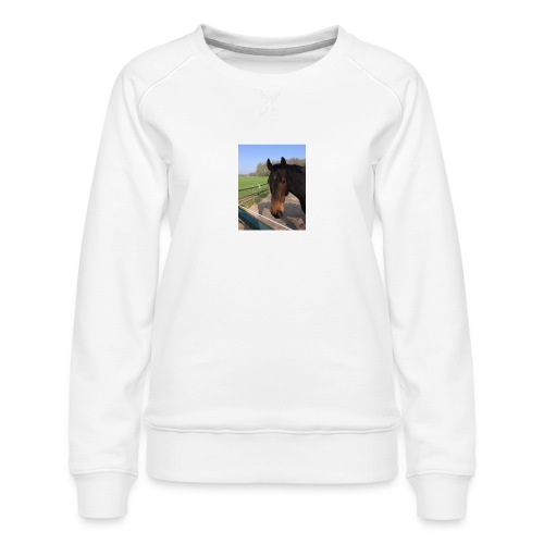 Met bruin paard bedrukt - Vrouwen premium sweater