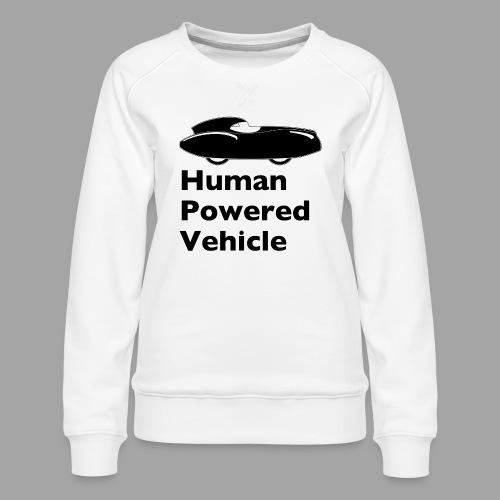 Quattrovelo Human Powered Vehicle black - Naisten premium-collegepaita