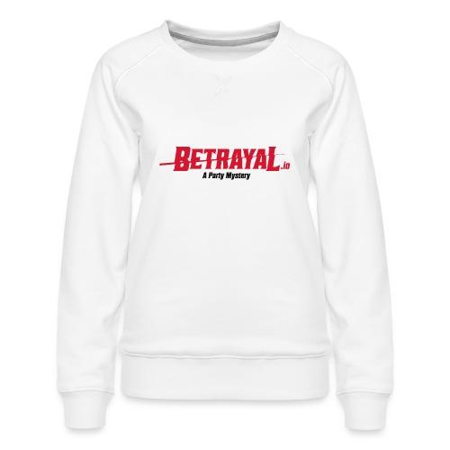 00418 Betrayal logo - Sudadera premium para mujer