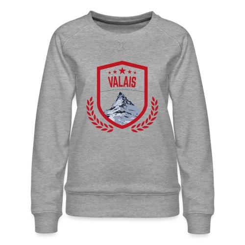 Walliser Logo mit dem Matterhorn - Frauen Premium Pullover