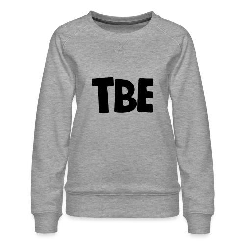 Logo zwart - Vrouwen premium sweater