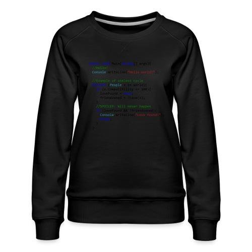 Love seen by a C# programmer - Felpa premium da donna