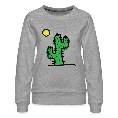 Cactus single - Felpa premium da donna