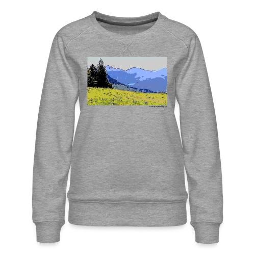 Berge künstlerisch - Frauen Premium Pullover