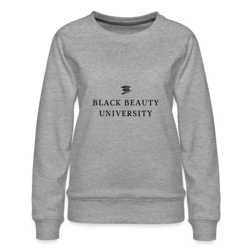 BLACK BEAUTY UNIVERSITY LOGO BLACK - Sweat ras-du-cou Premium Femme