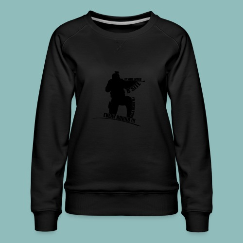 I'd rush you - Black Version - Frauen Premium Pullover
