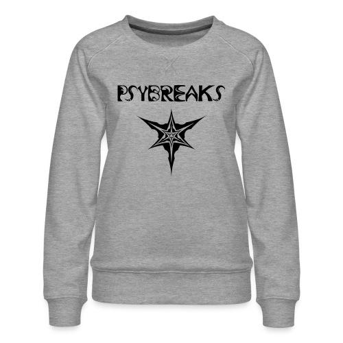 Psybreaks visuel 1 - text - black color - Sweat ras-du-cou Premium Femme