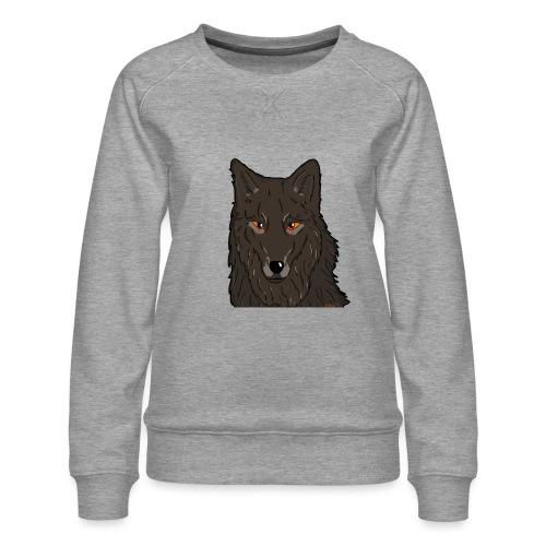 HikingMantis Wolf png - Dame premium sweatshirt