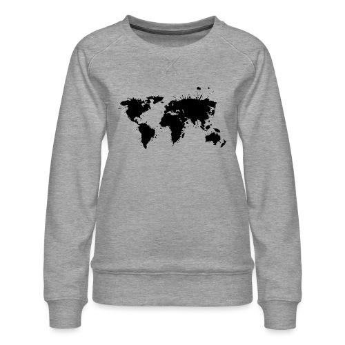 Weltkarte Splash - Frauen Premium Pullover