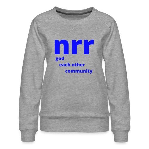 NEARER logo - Women's Premium Sweatshirt